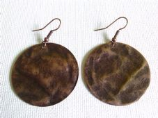 Metal disc earrings